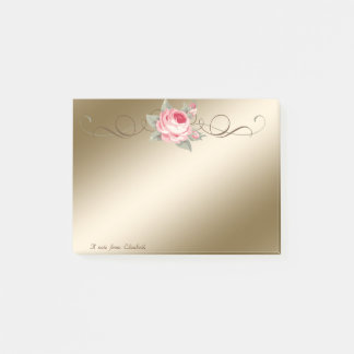 Cute Lovely  Stylish Elegant Rose Post-it Notes