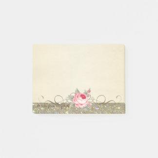 Cute Lovely  Stylish Elegant Rose Post-it Notes