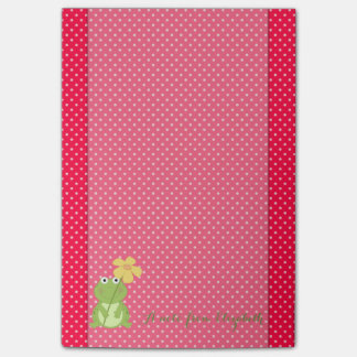 Cute Lovely  Stylish ,Polka Dots,Frog Post-it Notes