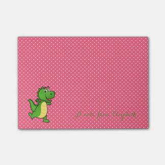 Cute Lovely  Stylish ,Polka Dots,Happy Crocodile Post-it Notes