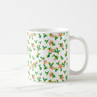Cute Lovely Watercolor flowers succulent cactus Coffee Mug