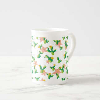 Cute Lovely Watercolor flowers succulent cactus Tea Cup