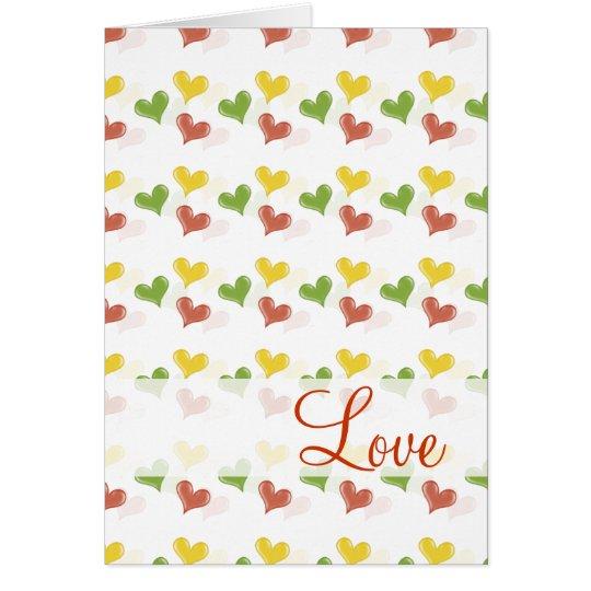 Cute Loving Hearts - Card