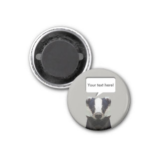 Cute low poly badger customisable magnet