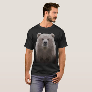 Cute Low poly bear fog t-shirt