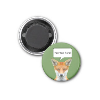 Cute low poly fox customisable magnet