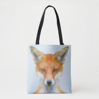 Cute low poly Fox tote