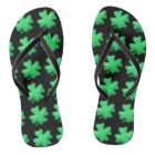 Cute Lucky Irish Shamrock Thongs