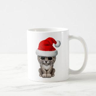 Cute Lynx Cub Wearing a Santa Hat Coffee Mug