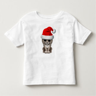 Cute Lynx Cub Wearing a Santa Hat Toddler T-Shirt