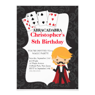 Cute Magic Birthday Party Invitations