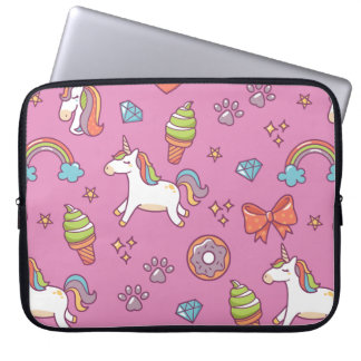 Cute Magic Unicorn Laptop Sleeve