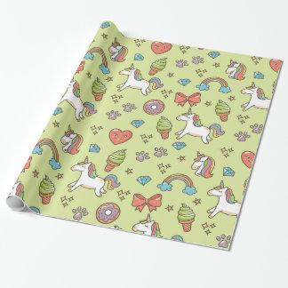Cute Magic Unicorn Wrapping Paper