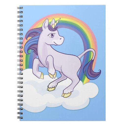 Cute Magical Rainbow Unicorn Journals
