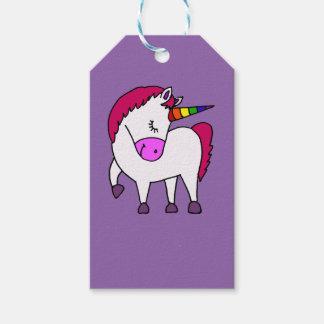 Cute Magical Unicorn Cartoon Gift Tags