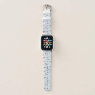 Cute Magical Unicorn Pastel color Apple Watch Band