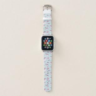 Cute Magical Unicorn Pastel colour Apple Watch Band
