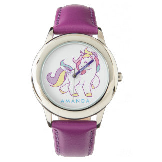 Cute Magical Unicorn Personalized Watch