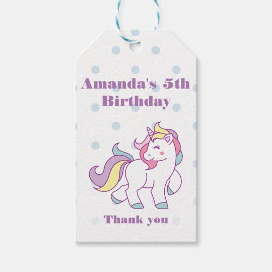 Cute Magical Unicorn Polka DOT custom Birthday