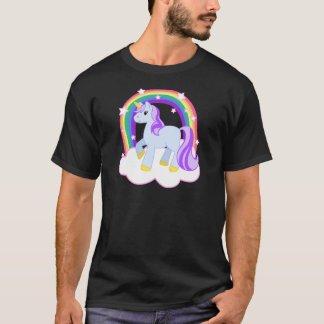 Cute Magical Unicorn with rainbow (Customizable!) T-Shirt