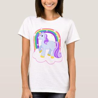 Cute Magical Unicorn with rainbow (Customizable!) T-Shirt