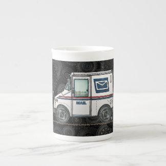 Cute Mail Truck Bone China Mug