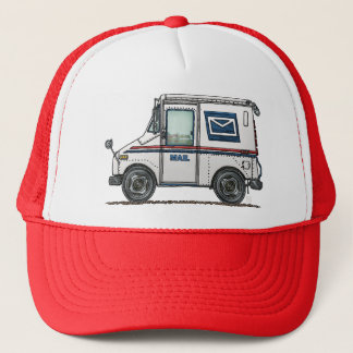 Cute Mail Truck Trucker Hat