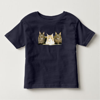 Cute Maine Coon Cats Modern Art Toddler's T-Shirt