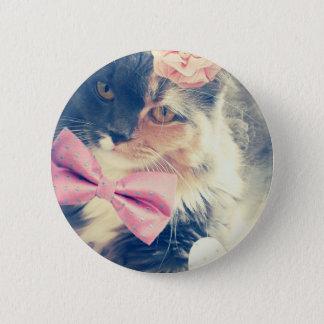 Cute Maine Coon Kitten Retro Style 6 Cm Round Badge