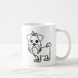 Cute Maltese Cartoon Coffee Mug