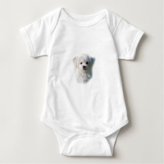 Cute Maltese Dog Baby Bodysuit