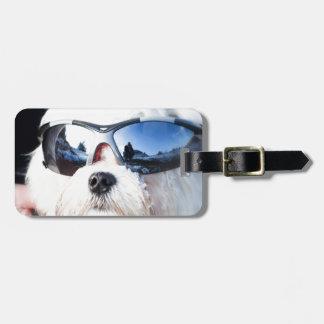 Cute Maltese Dog Luggage Tag