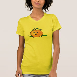 Cute Mandarin Orange with Smiling Face T-Shirt