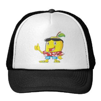 Cute Mango in Hawaiian Shirt Two Thumbs Up! Cap