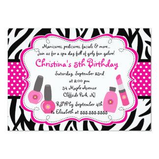 """Cute Manicure Spa Birthday Party Invitation 5"""" X 7"""" Invitation Card"""