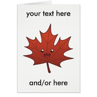 Cute Maple Leaf Card