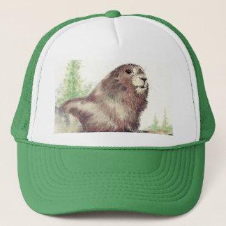Cute Marmot, Nature, Wildlife, Animal Trucker Hat