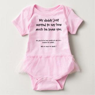 Cute Marriage Proposal Baby Bodysuit