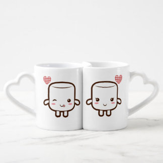 Cute Marshmallow couple Coffee Mug Set