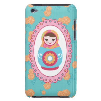 Cute Matryoshka Russian Nesting Doll and Roses iPod Touch Covers