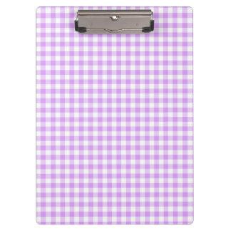 Cute Mauve Purple and White Gingham Clipboard