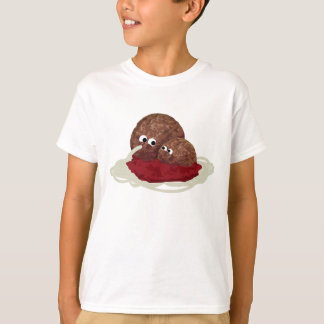 Cute Meatball Eating Spaghetti T-Shirt