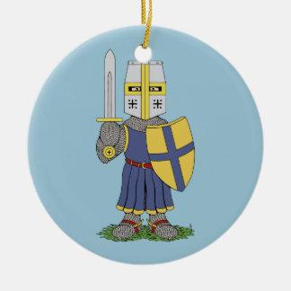 Cute Mediaeval Knight Ceramic Ornament