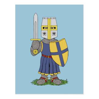 Cute Mediaeval Knight Postcard