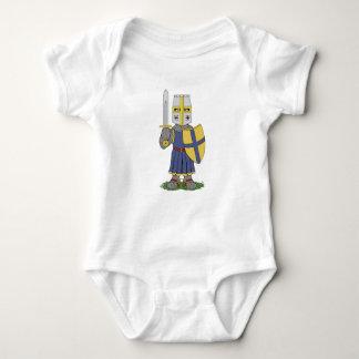 Cute Medieval Knight Baby Bodysuit