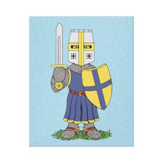 Cute Medieval Knight Canvas Print