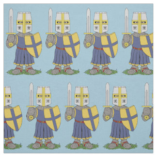 Cute Medieval Knight Fabric
