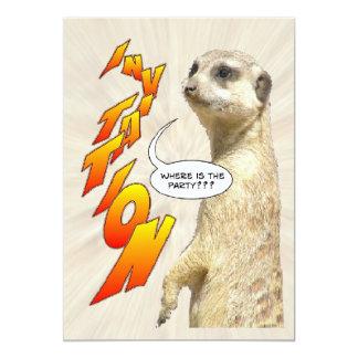 Cute Meerkat Furry Party Invitation Card