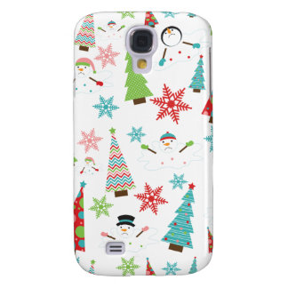 Cute Melting Snowman Funky Christmas Trees Samsung Galaxy S4 Covers
