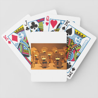 Cute merlion bicycle playing cards